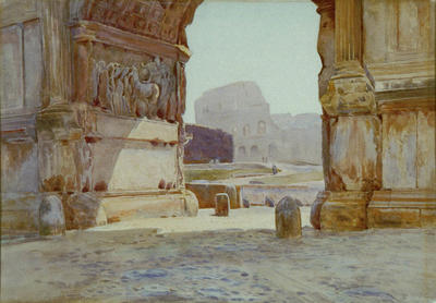 Under the Arch of Titus, Rome