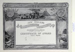 Certificate awarded to F.J. Denton for the New Zealand International Exhibition, Christchurch, November 1906 - April 1907
