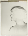 """Black and white negative of """"Miss Mary"""""""