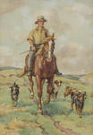Untitled (Shepherd and four dogs)