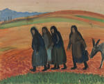 Untitled (group of figures walking)