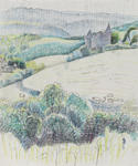 Untitled (Landscape with chateau)