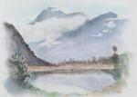 Untitled (Lake and Mountain study)