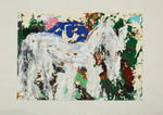 Horses (white horse, green/blue/brown background)