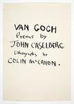 Van Gogh Poems by John Caselberg