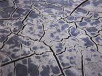 Surface mud cracks