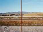 Main trunk rail line/metal power pole