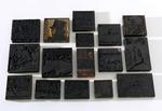 Box of printing woodblocks