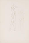 Untitled (Double Sided Drawing of Female Nudes)