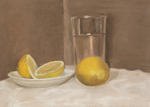 Still Life with Glass and Lemons
