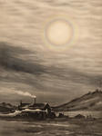 Lunar Corona, Cape Evans, McMurdo Sound, The Hut. May 14 1911.