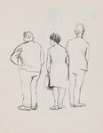 Untitled (Male and female figures, study)