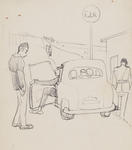 Untitled (Figures and car)