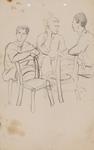 Untitled (Three male figures talking)