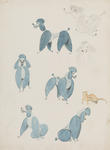 Untitled (Blue Poodle studies)