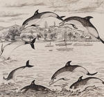 Untitled (Dolphins jumping)