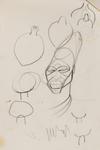Untitled (Head and jar studies)