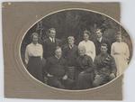 Collier family in the garden