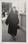 Eliza Collier in a fur coat