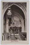 Postcard of the interior of Shere Church from Edith Collier to her father.