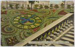 Postcard of the floral clock, Princes St, Edinburgh to Bill Collier from Edith Collier.