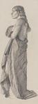 Untitled (Full length drawing of draped model)