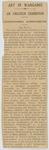 [Newspaper cutting, Art in Wanganui]