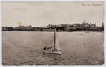 """Black and white postcard titled """"The Lake, Fairhaven"""" from unknown author to Edith Collier."""