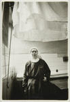 Sister Noelle, one of the novices in the laundry of the monastery.