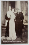 Black and white photographic postcard of Miss Clara Butt & Mr Kennerley Rumford.