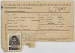 Prisoner of War registration card for James Alp