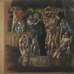 """""""The Fountain of Youth"""" (pastel drawing for portion of the painting)"""
