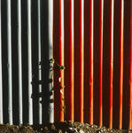 Walls and Fences No2 (Red and Green Tin Fence)