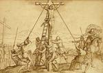 The Crucifixion of the Two Thieves Raised up beside Jesus Christ our Lord